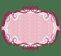 Etiquette rose ruban