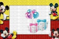 multicolore image encre bon anniversaire cadeaux color effet ballons  Mickey Disney ivk edited by me