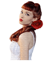 Woman  Red Rose White - Bogusia