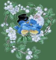 birds love flower branch oiseaux amour fleur branche