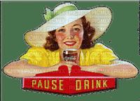 vintage woman coca cola femme