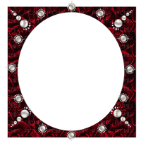 red  frame deco pearls  rouge cadre  perles