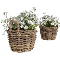 Fleur.Basket.Plants.Deco.Pot.white flowers.Victoriabea