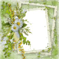SPRING FRAME WITH FLOWERS GREEN DECO