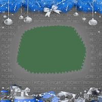 soave frame christmas ball branch black white blue