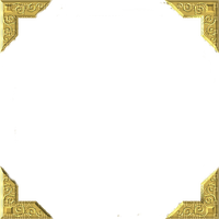 cadre or corner gold frame
