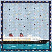 image encre couleur effet fantaisie bateau vacances cadre bon anniversaire  edited by me