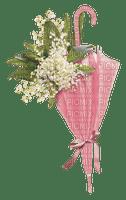 flowers pink umbrella vintage