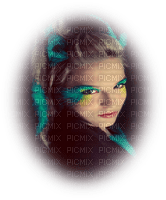 peacock woman femme paon