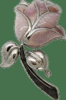 flower broche rose