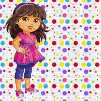 multicolore image encre color effet à pois Dora  Disney edited by me