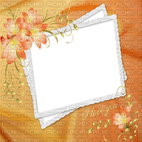 ORANGE FLOWER FRAME