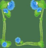 cadre vert fleur bleu frame green blue flower
