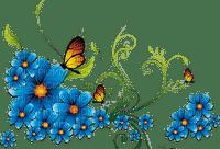 bleu fleur flowers blue deco border