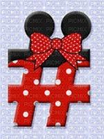 image encre numéro  Symbole numérique Minnie Disney edited by me