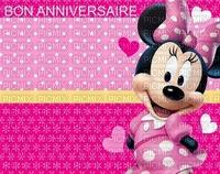 image encre couleur coeur anniversaire effet à pois Minnie Disney  edited by me