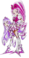 Cure Marine in purple and Cure Blossom