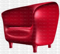 Fauteuil cuir rouge club