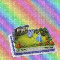 image encre gâteau pâtisserie bon anniversaire  arc en ciel edited by me