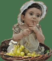 enfant fruits raisin  child fruits grapes