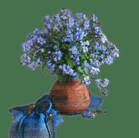 Blue flower.Fleur.Bleu.Deco.Bouquet.Vase.Pot.Victoriabea