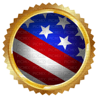 Kaz_Creations America 4th July Independance Day American Flag Seal