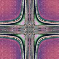 Cross, purple, green, original fractal art, jpg