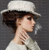 image encre femme mode charme chapeau edited by me