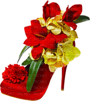 Kaz_Creations Deco Red Shoe With Flowers Colours
