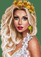 fille glamour, blonde,fleur,Orabel