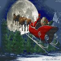 santa sleigh moon pere noel traineau lune