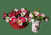 Ladybird - Basket of flowers and jar of flowers