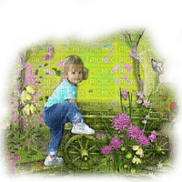 enfant child summer garden