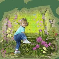 enfant child summer garden
