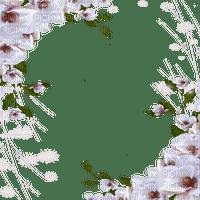 WHITE FLOWER CORNER FRAME  cadre Blanc fleurs bordure