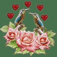 kukka, ruusu, lintu