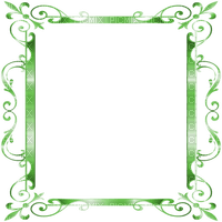 frame deco ornament green   cadre vert