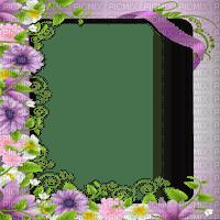 purple flower frame cadre fleur
