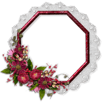 frame-lace-pink-flower-cadre de dentelle -rose-fleur-cornice-in pizzo-rosa-fiore-ram-spets-rosa-blomma-minou