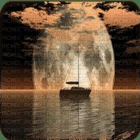 ship moon bg bateau lune paysage fond