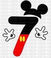 image encre numéro 7 bon anniversaire Mickey Disney edited by me