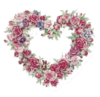 vintage flower heart