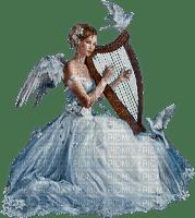 ange harpiste colombe