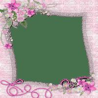frame pink flowers cadre rose fleurs