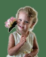fille et fleur