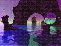 Fantasy Colorful water Scenery
