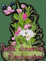 Decoración flores - ave y anotas música