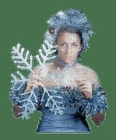Girl, Girls, Female, Femme, Fille, Woman, Women, Snowflake, Winter, Blue - Jitter.Bug.Girl