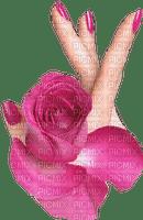 rose,flower,fleur,hand