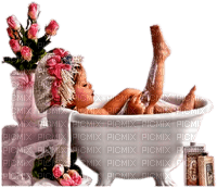child girl bathtub enfant fillette baine
